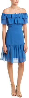 NSR Off-The-Shoulder Shift Dress
