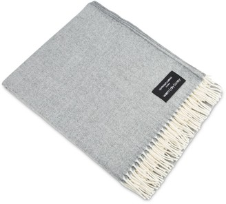 Heating & Plumbing London Merino Lambswool Throw Soft Grey