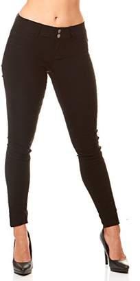 V.I.P. JEANS Women's Plus Size Soft Stretchy White Black red Navy Khaki Pants