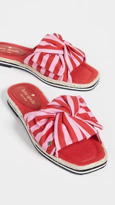 Kate Spade Caliana Striped Slides