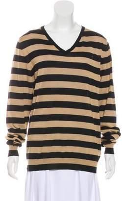 Burberry Striped Wool Sweater Black Striped Wool Sweater