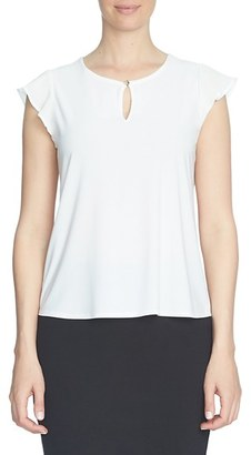 Women's Cece Flutter Sleeve Keyhole Neck Top $49 thestylecure.com
