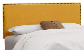 Skyline Furniture Arcadia Nailbutton Linen Headboard