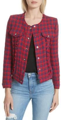 IRO Quilombre Houndstooth Tweed Jacket