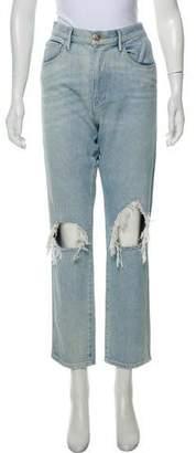 3x1 Distressed High-Rise Boyfriend Jeans