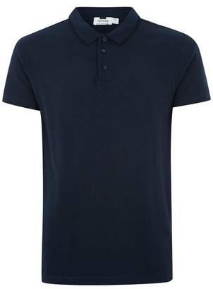 Topman Mens Blue Navy Skinny Fit Polo