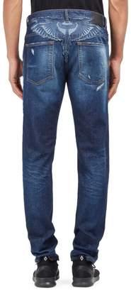 Marcelo Burlon County of Milan Bajo Skinny Fit Jeans