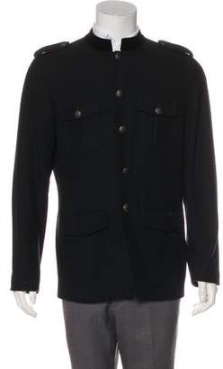 Theory Wool Button-Up Jacket