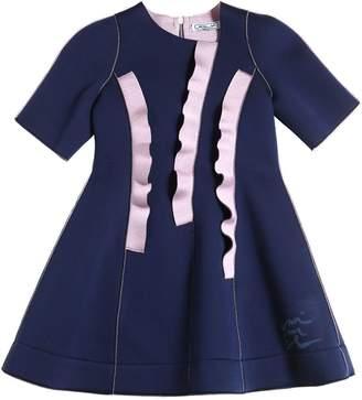 Jersey Neoprene Dress W/ Ruffles