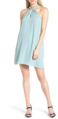 Soprano Knotted High Neck Shift Dress