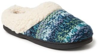 Dearfoams Women's Chunky Knit Clog Slippers