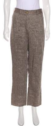 Salvatore Ferragamo High-Rise Straight-Leg Pants