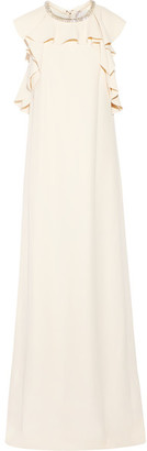 Lanvin - Embellished Ruffled Crepe Gown - Ecru $6,450 thestylecure.com