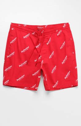 "Trunks Pacsun x Budweiser Allover Logo Print Red 17"" Swim"