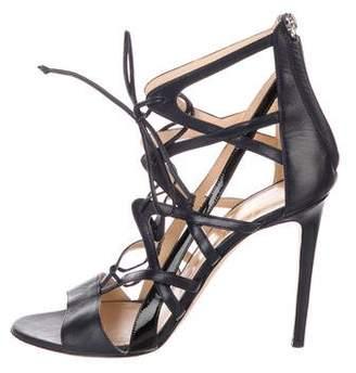 Alejandro Ingelmo Leather Caged Sandals