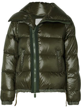 Sacai Quilted Shell Down Jacket - Army green