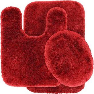 Garland Rugs Finest Luxury Ultra Plush Nylon 3-Piece Washable Bathroom Rug Set