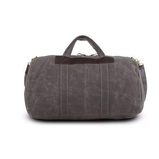 EAZO - Waxed Canvas and Leather Duffle Bag in Grey