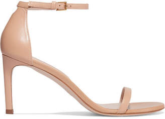 Stuart Weitzman Nudist Leather Sandals - Neutral