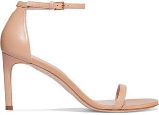 Stuart Weitzman Nudist Leather Sandals - Neutral