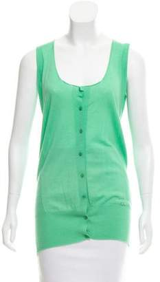 Emilio Pucci Sleeveless Scoop Neck Cardigan