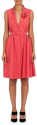 Lanvin Women's Florette-Embellished Crepe Wrap Dress