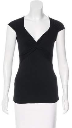 BCBGMAXAZRIA V-Neck Short Sleeve Top