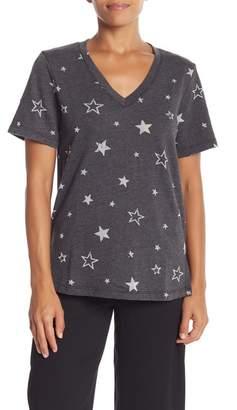 Michael Stars Star printed Short Sleeve Sweater Top