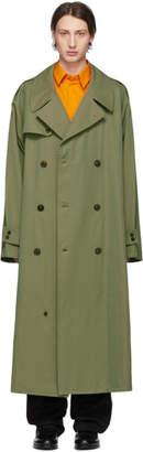 Maison Margiela Green Gabardine Trench Coat