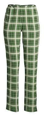 Marc Jacobs Women's Redux Grunge Plaid Washed Silk Leggings