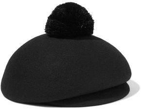 Eugenia Kim Ogden Pompom-Embellished Wool-Felt Cap