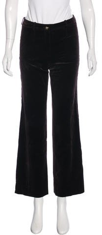 CelineCéline Wide-Leg Velvet Pants