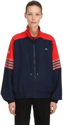 Lacoste Zip-Up Cotton Canvas Jacket