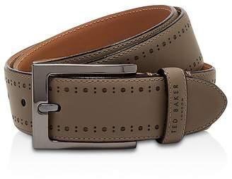 Ted Baker Havan Rubber Leather Brogue Belt