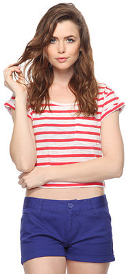 Forever 21 Striped Crop Tee