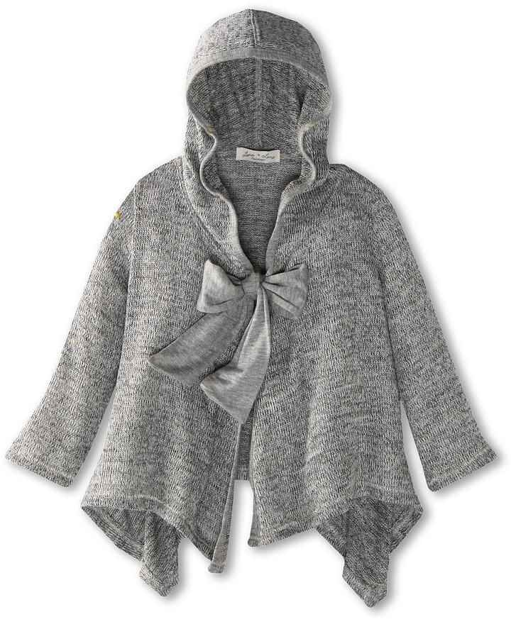 Luna Luna Copenhagen Greyson Super Soft Knit Cover Up (Toddler) (Heather Grey) - Apparel