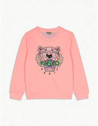 Kenzo Tiger cotton-blend sweatshirt 4-16 years