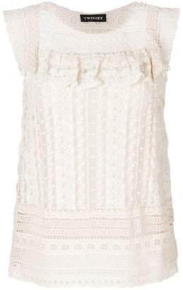 Twin-Set embroidered fitted top