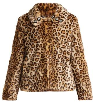 Shrimps - Junior Leopard Print Faux Fur Jacket - Womens - Leopard