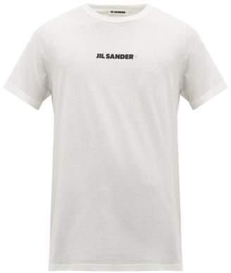 Jil Sander Logo Print Cotton T Shirt - Mens - White