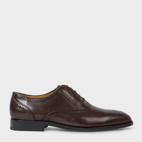 Paul Smith Men's Brown Calf Leather 'Gilbert' Brogues