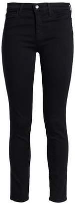 J Brand High-Rise Slim-Leg Jeans