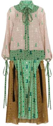 Lanvin Silk Printed Shirt Dress