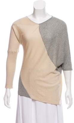 Yigal Azrouel Asymmetrical Colorblock Knit Top