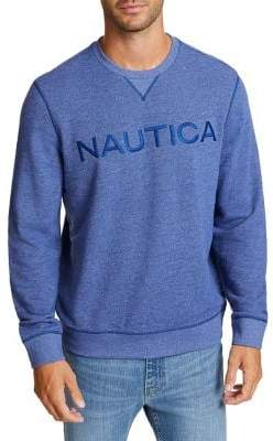 Nautica Logo Crewneck French Terry Pullover