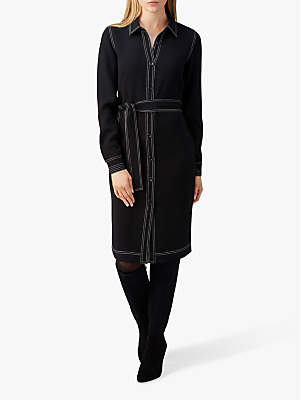 Pure Collection Shirt Dress, Black
