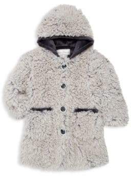 Widgeon Little Girl's and Girl's Faux Fur Coat