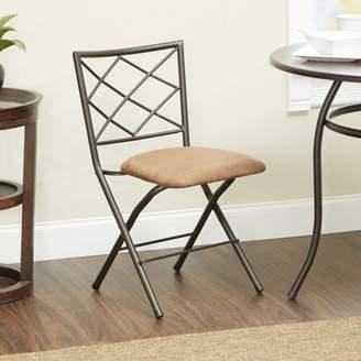 Mainstays Diamond X-Back Bronze Folding Dining Chair, Multiple Colors