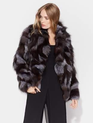 Halston Patched Fur Jacket