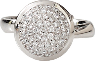 Tamara Comolli Large Diamond Pave Bouton Ring